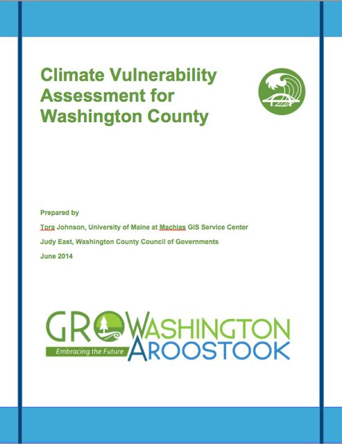 Link to Climate Vulnerability Assessment for Washington County