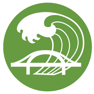 Climate Change & Infrastructure Resilience Icon